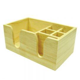 wooden bar caddy