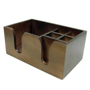 wooden bar caddy