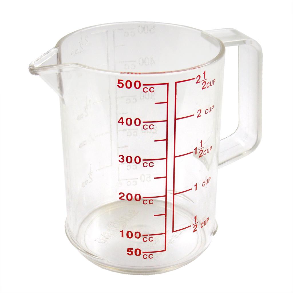 500 ml pc plastic liquid measuring cup trendware